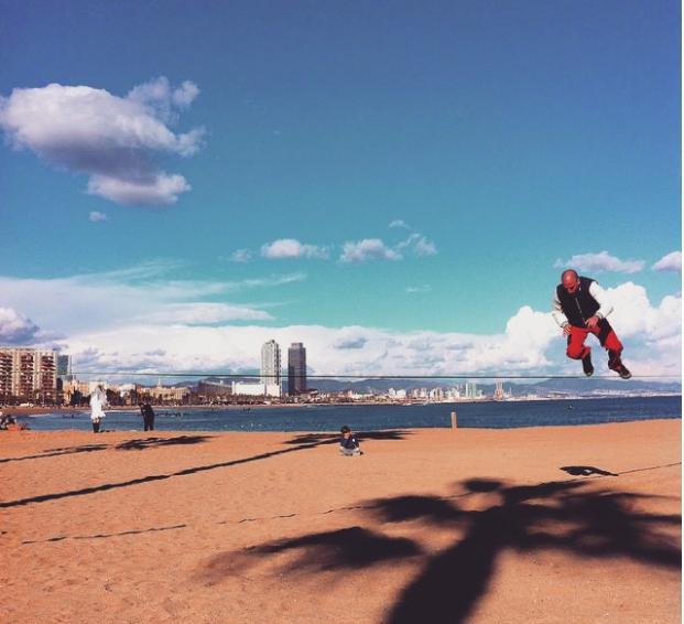 barcelona-beach-man