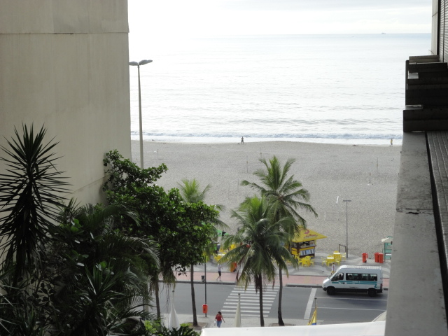 View from my room - Hotel Atlantico Copacabana - being30.com