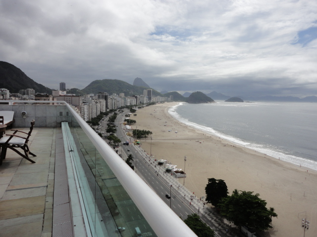 View up the beach from Hotel Atlantico Copacabana - being30.com
