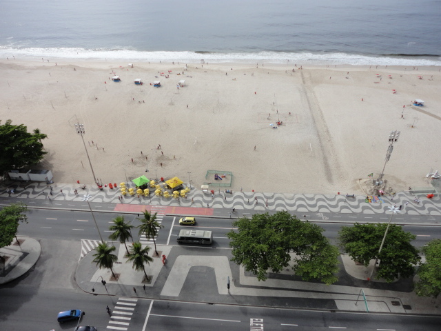 Hotel Atlantico Copacabana is right on the beach - being30.com