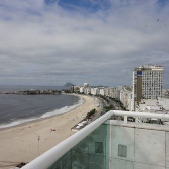 View down the beach at Hotel Atlantico Copacabana - being30.com