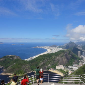 View of Copacabana Beach from Sugar Loaf Mountain - being30.com