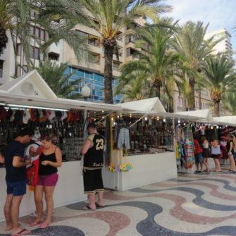 Stalls along Esplana de Espana - being30.com