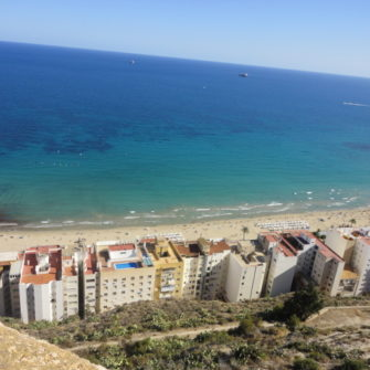 View of Alicante Beach From Castle - being30.com