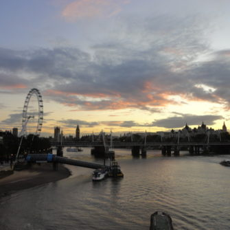 London Calling - View Across the Thames - being30.com