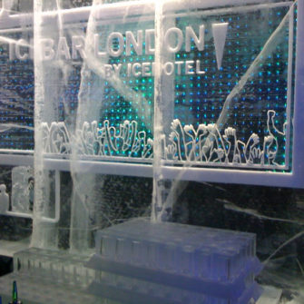 Ice Bar Sculpture - Hen Weekend in London - being30.com