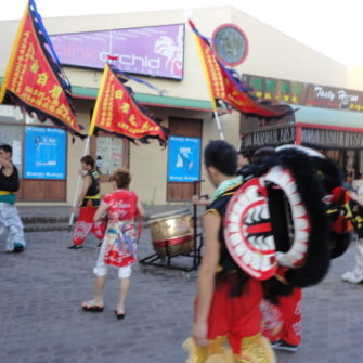 Lion Dancers Getting Ready - Chinese New Year - being30.com