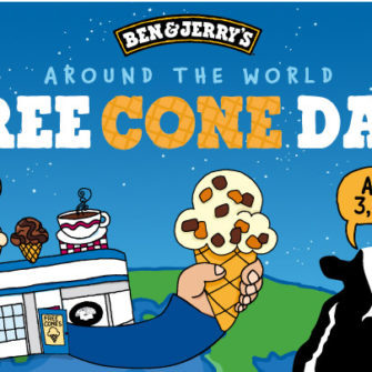 Ben and Jerry's Free Cone Day - being30.com