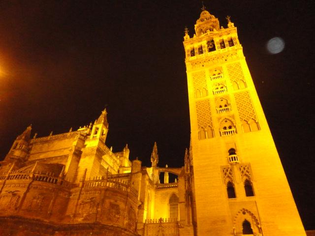 Giralda at Night | Popular Attractions in Seville