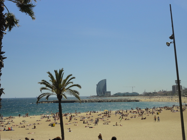 View of BCN beach