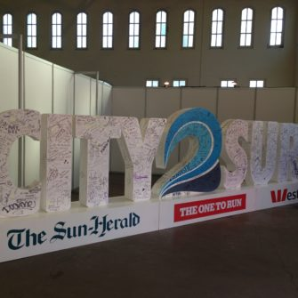 City2Surf, collecting the race bib