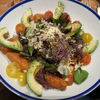 Roasted Carrots and Avocado Salad